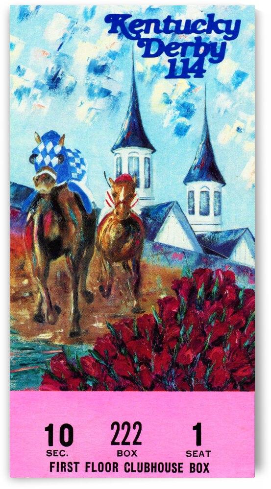 1988 Kentucky Derby Ticket Stub Canvas  by Row One Brand