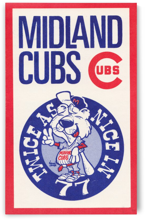 1977 Midland Cubs Norman Johnson Art Poster by Row One Brand