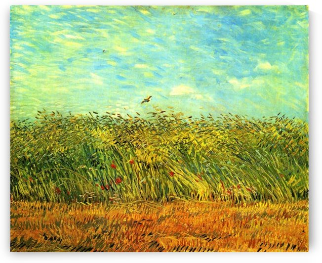 Wheat Field with a Lark by Van Gogh by Van Gogh