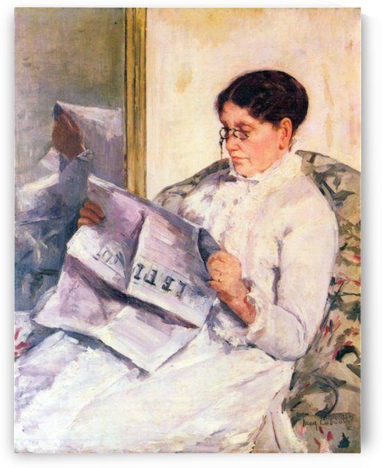 When reading of Figaro by Cassatt by Cassatt