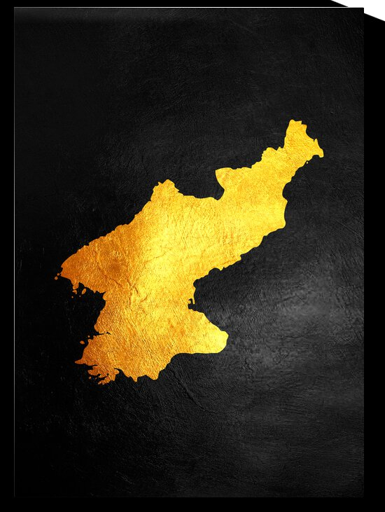 north korea gold map by ABConcepts