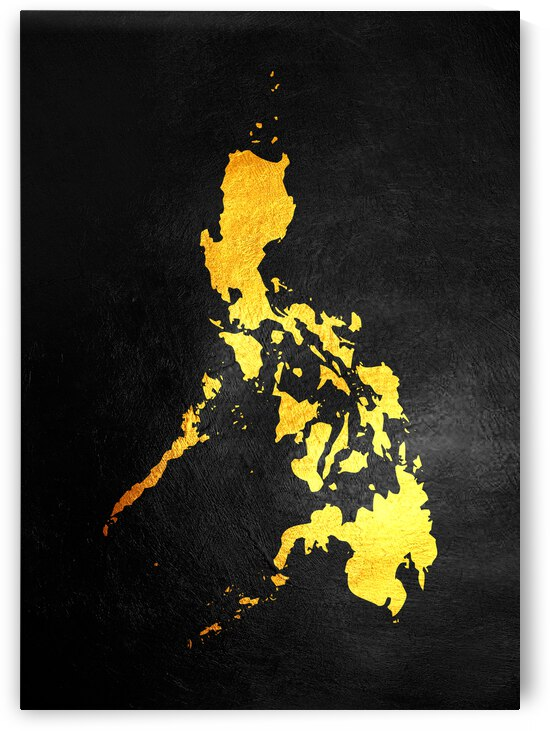 Philippines gold map by ABConcepts