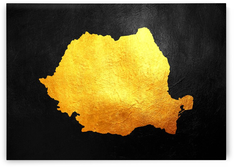 romania gold map by ABConcepts