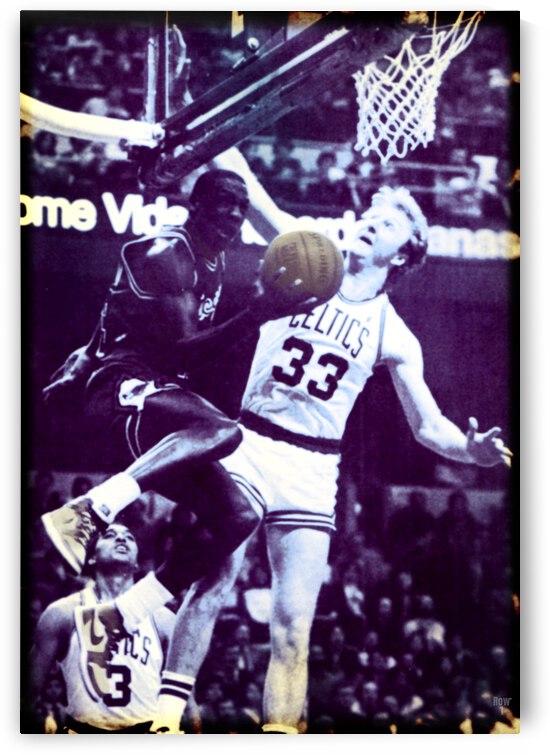 1986 Michael Jordan 63 Point Game Art by Row One Brand