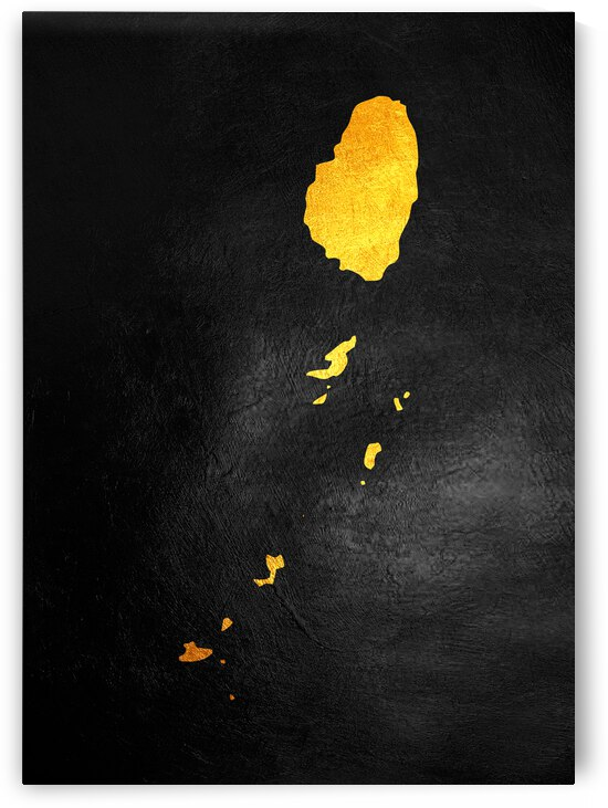 saint vincent and the grenadines gold map by ABConcepts