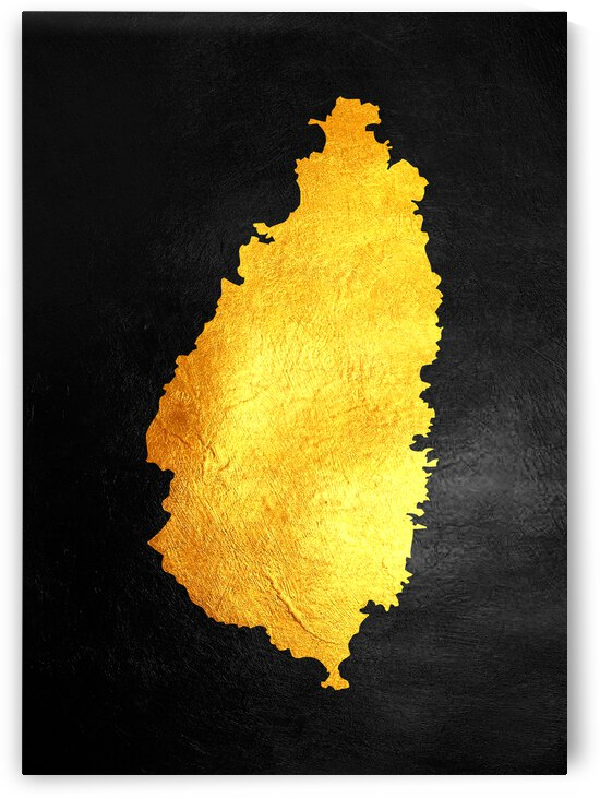 saint lucia gold map by ABConcepts