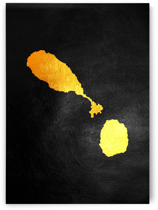 saint kitts gold map by ABConcepts