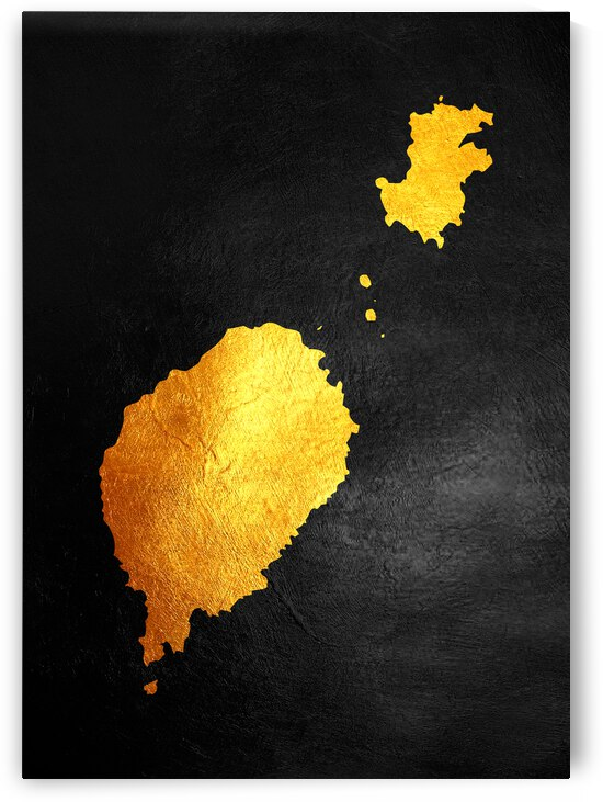 sao tome and principe gold map by ABConcepts