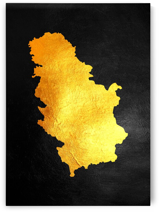 serbia gold map by ABConcepts