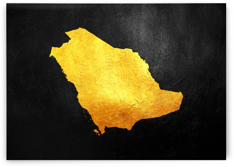 saudi arabia gold map by ABConcepts