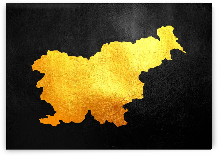 slovenia gold map by ABConcepts