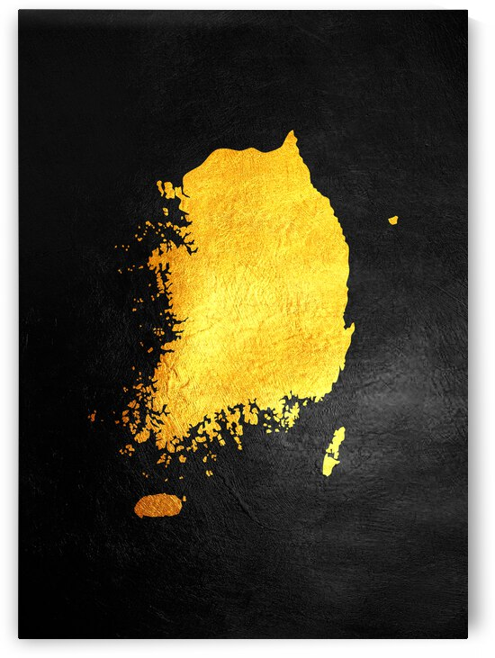 south korea gold map by ABConcepts