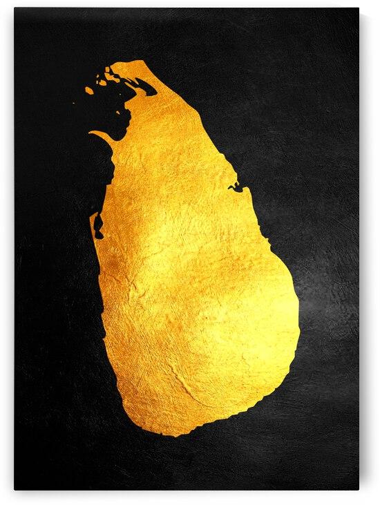sri lanka gold map by ABConcepts