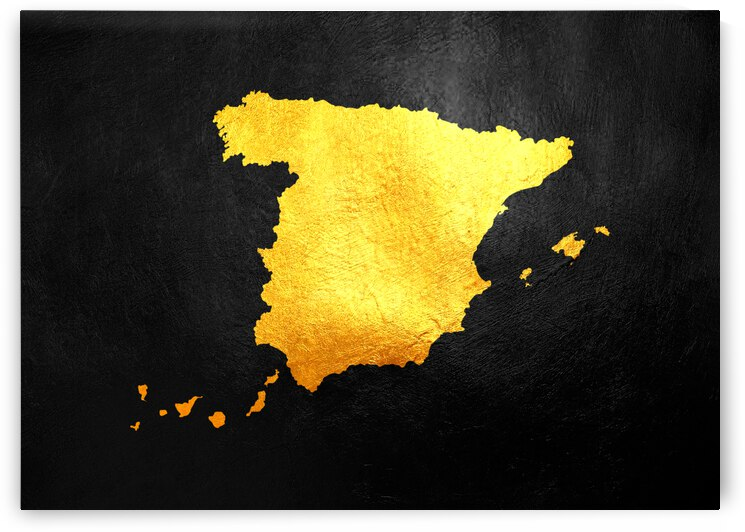 spain gold map by ABConcepts