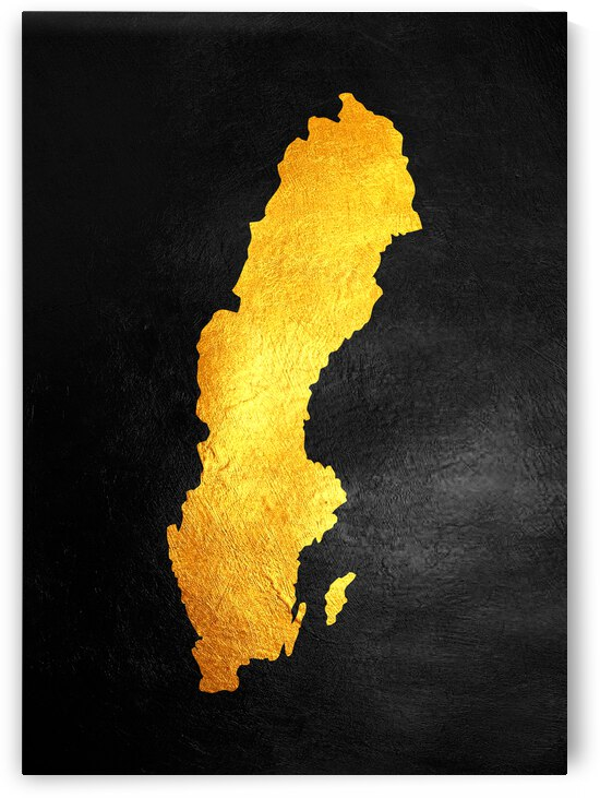 sweden gold map by ABConcepts