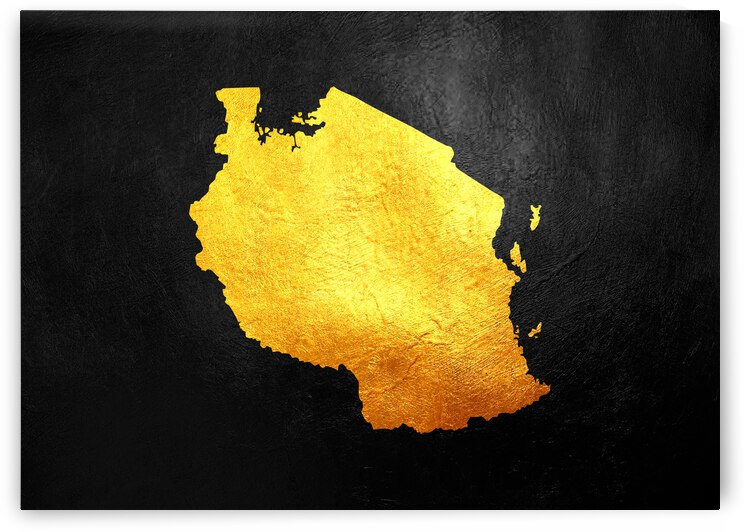 tanzania gold map by ABConcepts