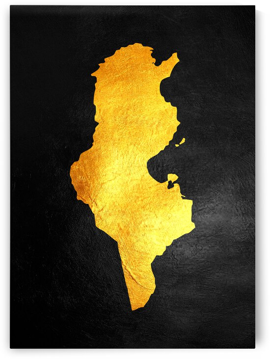 tunisia gold map by ABConcepts