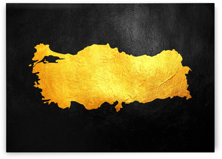turkey gold map by ABConcepts