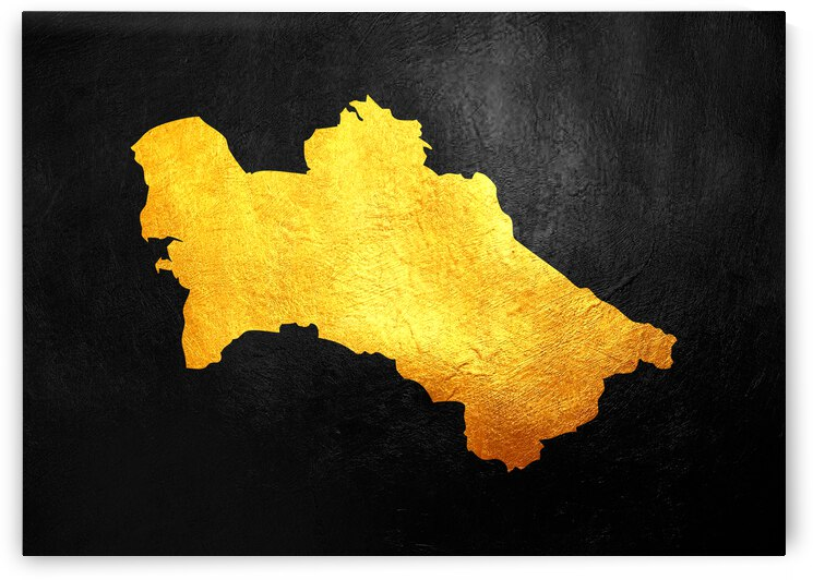 turkmenistan gold map by ABConcepts