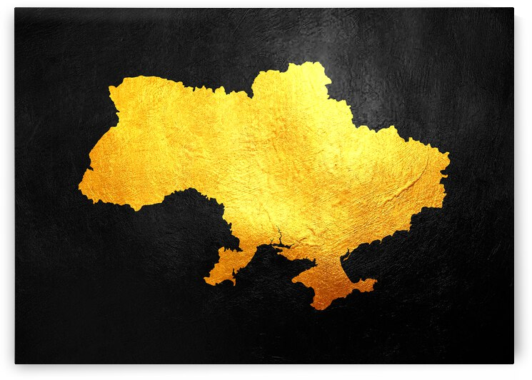 ukraine gold map by ABConcepts
