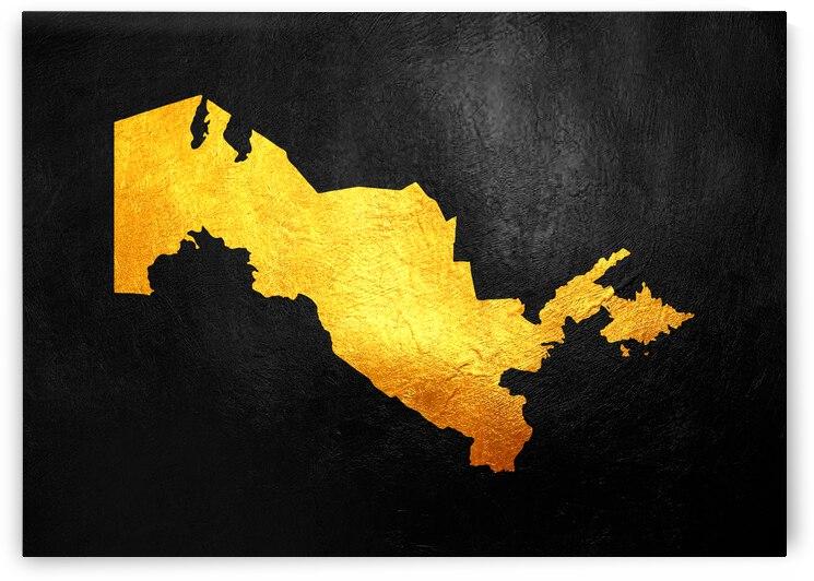 uzbekistan gold map by ABConcepts
