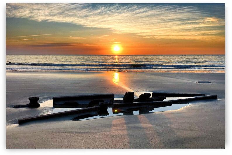 Driftwood Beach Shipwreck Sunrise by Bill Swartwout Photography
