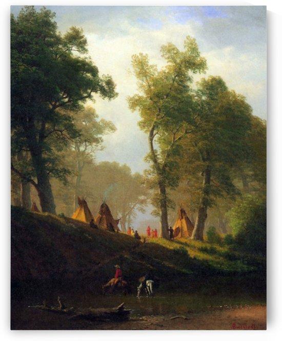 Wolf River, Kansas by Bierstadt by Bierstadt