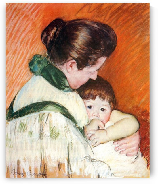 Woman and Child by Cassatt by Cassatt