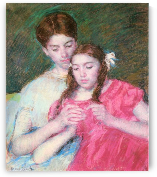 Woman and girl by Cassatt by Cassatt