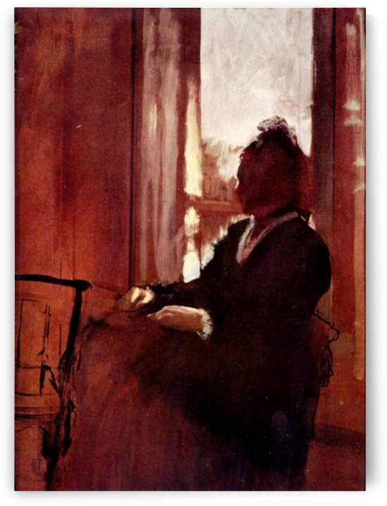 Woman at the window by Degas by Degas