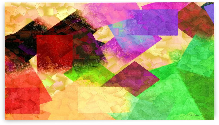 COLLIDING COLORS - ABSTRACT by Digicam