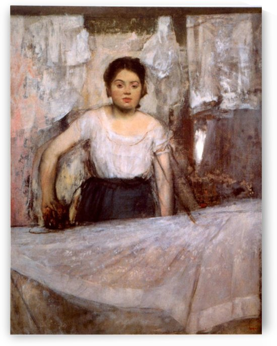 Woman Ironing by Degas by Degas