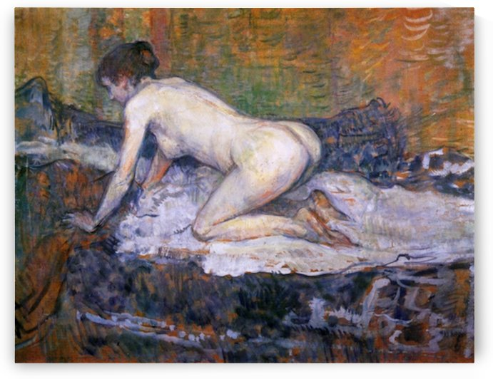 Woman naked by Toulouse-Lautrec by Toulouse-Lautrec