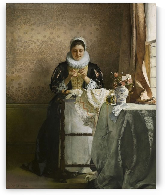 The lace maker by Eduard Charlemont