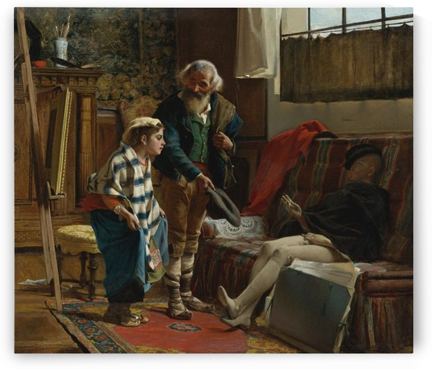 The artist studio by Eduard Charlemont