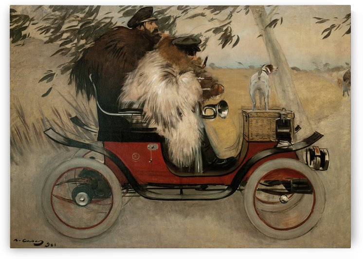 Ramon Casas and Pere Romeu in an Automobile by Ramon Casas i Carbo