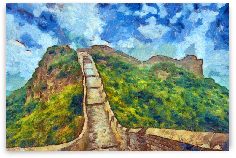 CHINA GREAT WALL OIL PAINTING IN VINCENT VAN GOGH STYLE. 52. by ArtEastWest