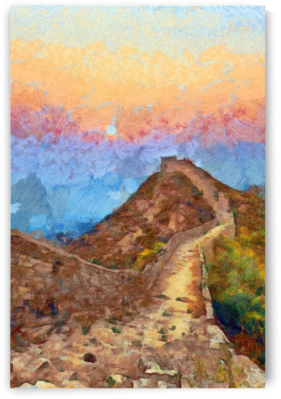 CHINA GREAT WALL OIL PAINTING IN VINCENT VAN GOGH STYLE. 89. by ArtEastWest
