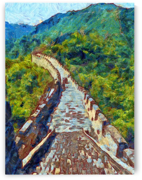 CHINA GREAT WALL OIL PAINTING IN VINCENT VAN GOGH STYLE. 86. by ArtEastWest