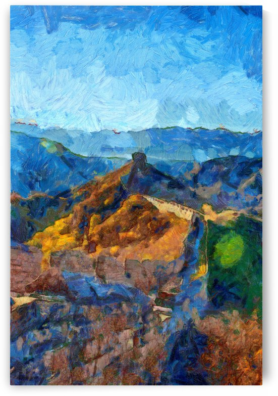 CHINA GREAT WALL OIL PAINTING IN VINCENT VAN GOGH STYLE. 90. by ArtEastWest