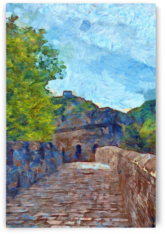CHINA GREAT WALL OIL PAINTING IN VINCENT VAN GOGH STYLE. 91. by ArtEastWest