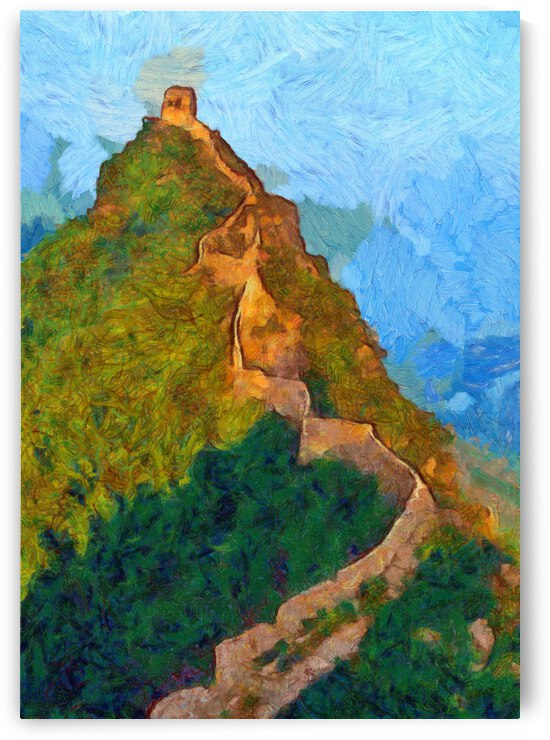CHINA GREAT WALL OIL PAINTING IN VINCENT VAN GOGH STYLE. 88. by ArtEastWest