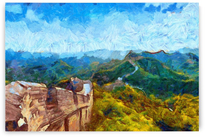 CHINA GREAT WALL OIL PAINTING IN VINCENT VAN GOGH STYLE. 62. by ArtEastWest