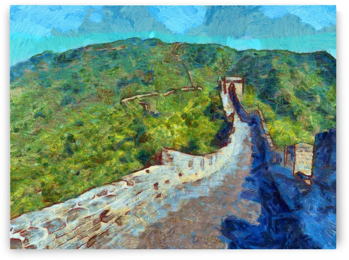 CHINA GREAT WALL OIL PAINTING IN VINCENT VAN GOGH STYLE. 74. by ArtEastWest