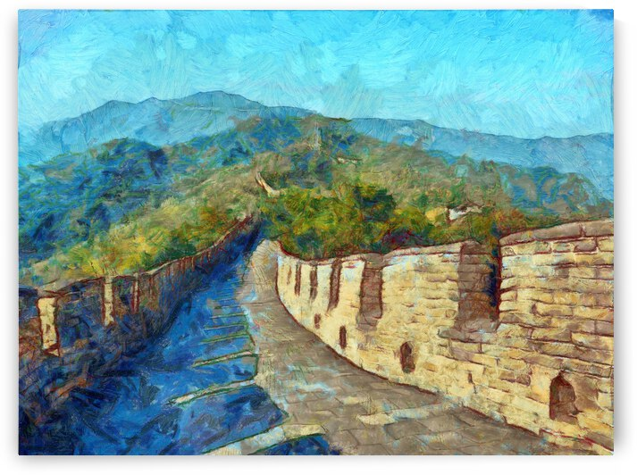CHINA GREAT WALL OIL PAINTING IN VINCENT VAN GOGH STYLE. 70. by ArtEastWest