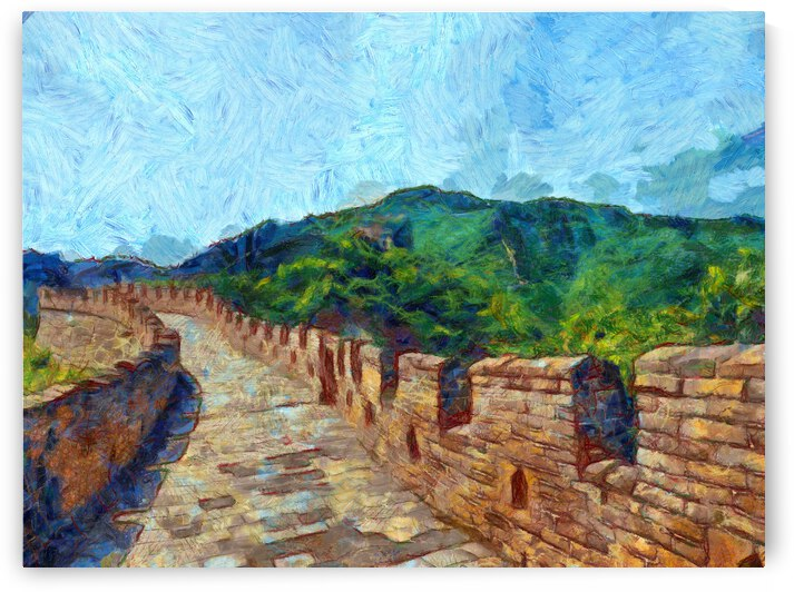 CHINA GREAT WALL OIL PAINTING IN VINCENT VAN GOGH STYLE. 72. by ArtEastWest