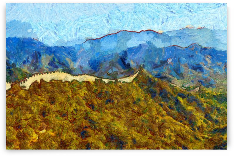 CHINA GREAT WALL OIL PAINTING IN VINCENT VAN GOGH STYLE. 60. by ArtEastWest