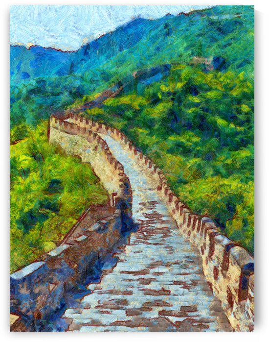 CHINA GREAT WALL OIL PAINTING IN VINCENT VAN GOGH STYLE. 87. by ArtEastWest
