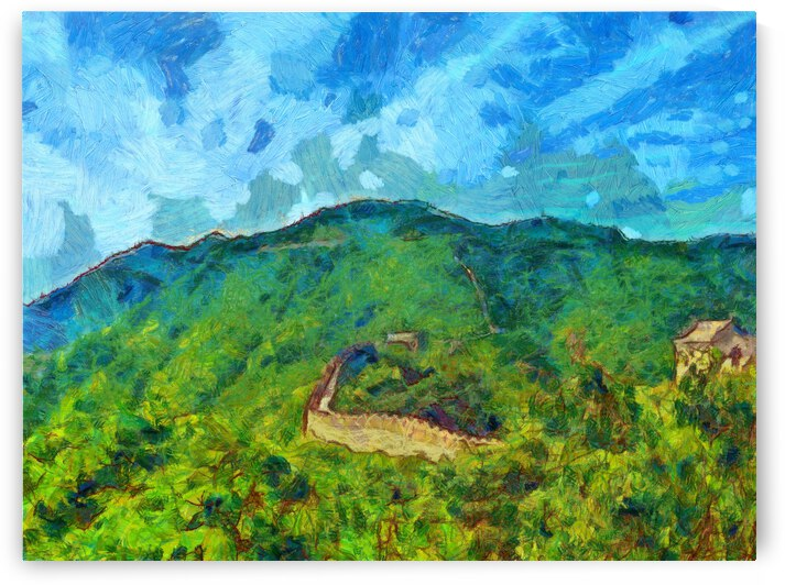 CHINA GREAT WALL OIL PAINTING IN VINCENT VAN GOGH STYLE. 71 by ArtEastWest