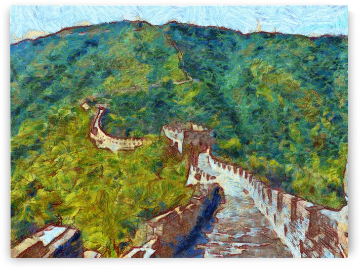 CHINA GREAT WALL OIL PAINTING IN VINCENT VAN GOGH STYLE. 73. by ArtEastWest